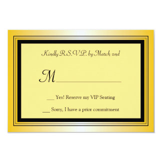 Oscar Award Party RSVP Card 9 Cm X 13 Cm Invitation Card