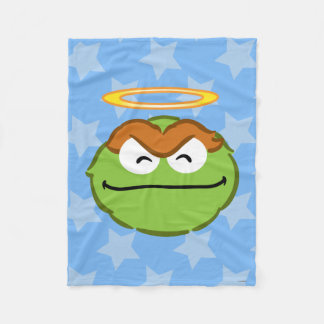 Oscar Smiling Face with Halo Fleece Blanket