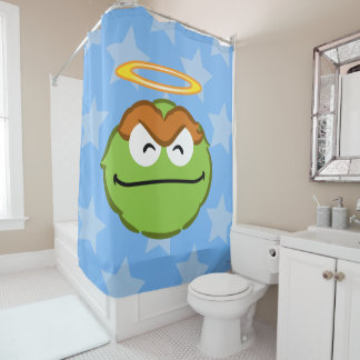Oscar Smiling Face with Halo Shower Curtain