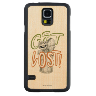 Oscar the Grouch B&W Sketch Drawing Carved Maple Galaxy S5 Case