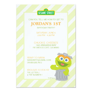 Oscar the Grouch Baby Birthday Card