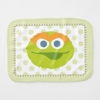 Oscar the Grouch Big Face Baby Burp Cloths