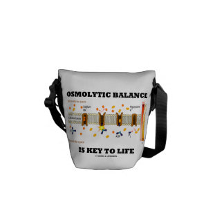 Osmolytic Balance Is Key To Life (Na-K Pump) Messenger Bag