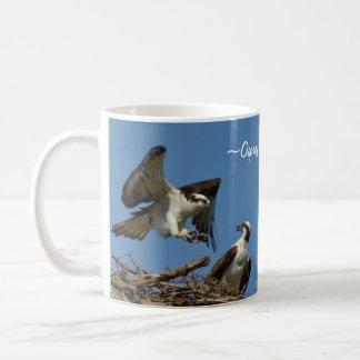 Osprey Hawks flying nest Mug