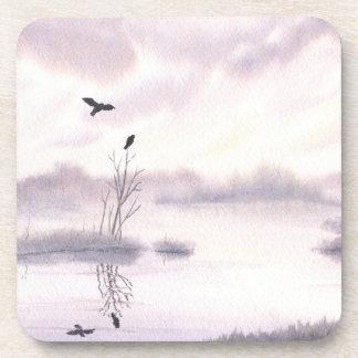 Ospreys at Dawn Plastic Coaster