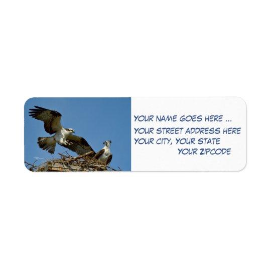Ospreys Hawks Return Address Labels