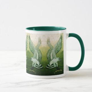 Ospreys Mug in Green Ringer Style