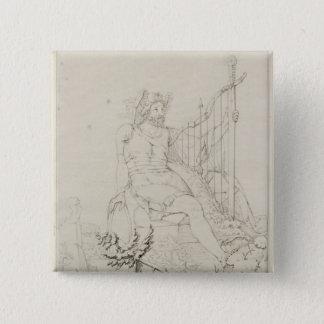 Ossian, 1804-5 15 cm square badge