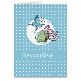 Ostern Schmetterling Neuanfänge Card