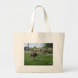 Ostrich and Llama Large Tote Bag