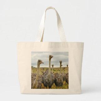 Ostrich Bird Large Tote Bag