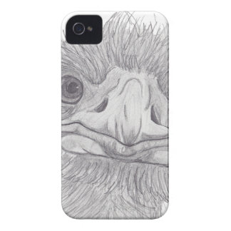Ostrich Face iPhone 4 Case-Mate Case