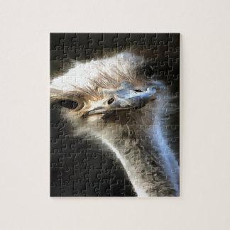 Ostrich Head Jigsaw Puzzle