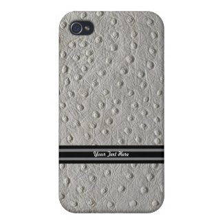 Ostrich Leather iPhone 4/4S Cover