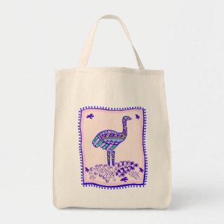 Ostrich Quilt Tote Bag