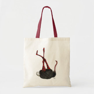 Ostrich with Striped Leggings Tote Bag