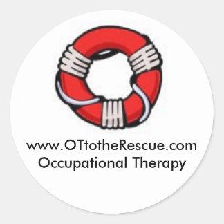 OT to the Rescue Classic Round Sticker
