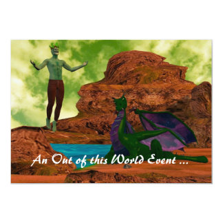 Other Worlds 13 Cm X 18 Cm Invitation Card