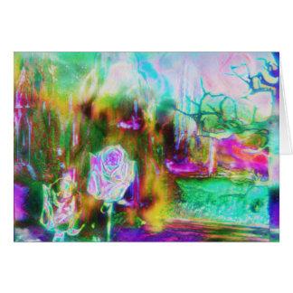 Otherworld Aquamarine Surreal Rose Card