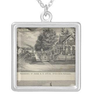 Otis Price Villa, Kansas Silver Plated Necklace