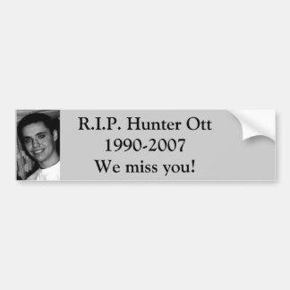 ott_hunter_172007_1[1], R.I.P. Hunter Ott1990-2... Car Bumper Sticker