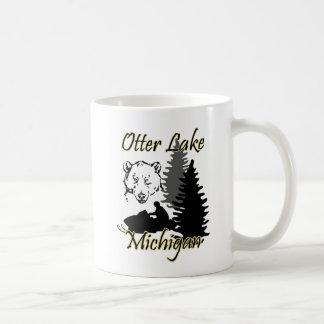 Otter Lake Michigan Snowmobile Bear Mug