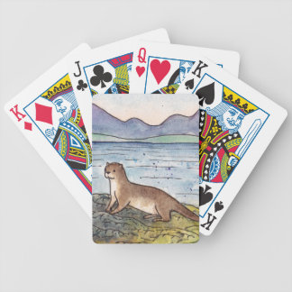 otter of the loch bicycle playing cards