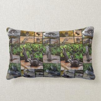 Otter Photo Collage, Lumbar Cushion. Lumbar Cushion