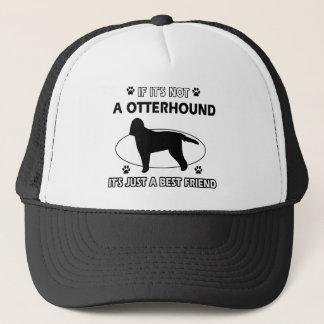 Otterhound dog breed designs trucker hat