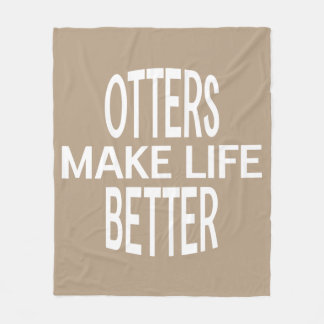 Otters Better Blanket - Assorted Sizes & Colors