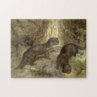 Otters Fishing by Stream Puzzle