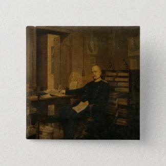 Otto von Bismarck in his Study 15 Cm Square Badge