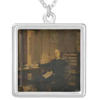 Otto von Bismarck in his Study Silver Plated Necklace