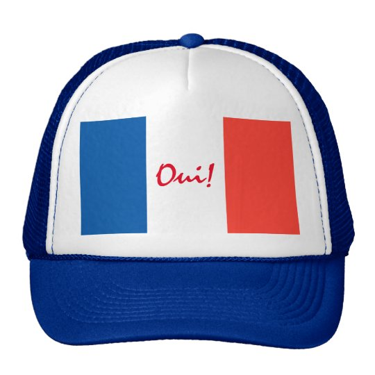 Oui Yes French Flag Customisable Cap