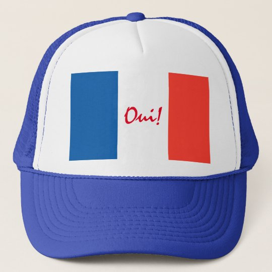Oui Yes French Flag Customisable Trucker Hat