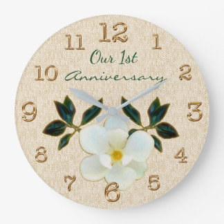 Our 1st Anniversary Clock or YOUR TEXT or Delete