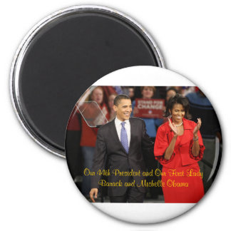 Our 44th President and Our First Lady 6 Cm Round Magnet