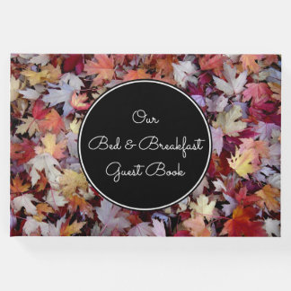 """""""Our Bed & Breakfast Guest Book"""" + Autumn Leaves Guest Book"""