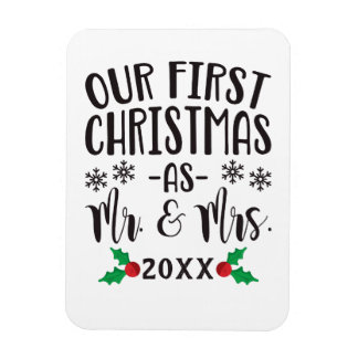 Our First Christmas as Mr. and Mrs. Newlywed Magnet