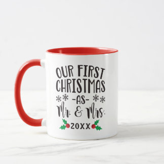 Our First Christmas as Mr. and Mrs. Newlywed Mug