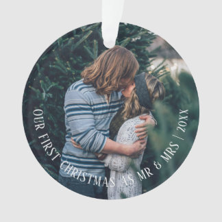 Our First Christmas Personalised Photo Ornament