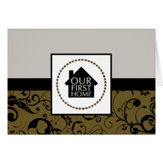 our first home (damask) card