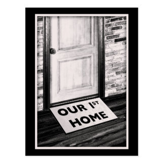 our first home door mat photograph postcard