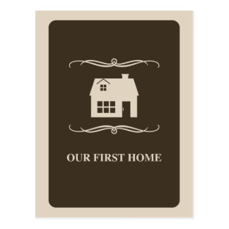 our first home (mod home) postcard