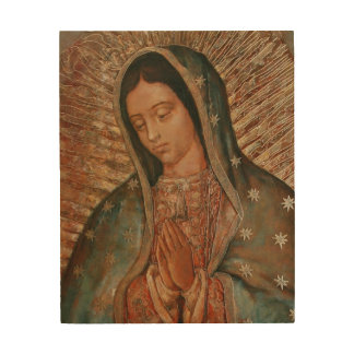 Our Lady of Guadelupe Wood Print