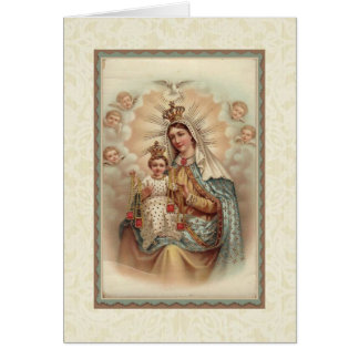 Our Lady of Mount Carmel Baby Jesus Scapular Card