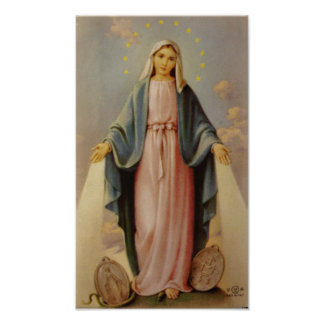 Our Lady of the Rosary Blessed Mother Virgin Mary Poster