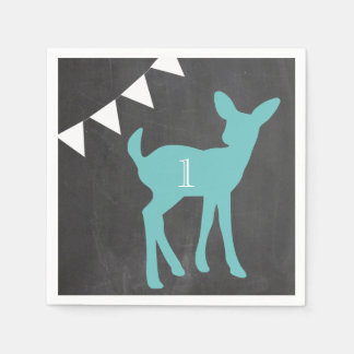 Our Little Buck is Turning ONE Napkins Paper Napkin