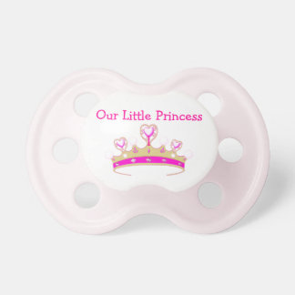 Our Little Princess Tiara Crown Girly Pink Name Dummy