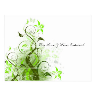 Our Love & Lives Entwined Vine RSVP Postcard